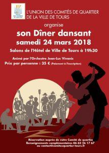 Diner Dansant de l'Union des Comités de quartier @ Hotêl de Ville de Tours